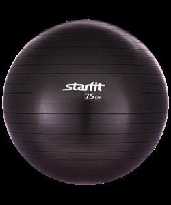 Мяч гимнастический GB-101 75 см, антивзрыв, черный - фото 45323