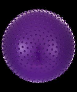 Мяч гимнастический массажный GB-301 65 см, антивзрыв, фиолетовый - фото 45325