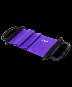 Эспандер ленточный ES-202 жесткая ручка, фиолетовый - фото 45362