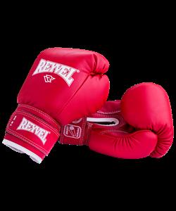 Перчатки боксерские RV-101, 8oz, к/з, красные - фото 45393