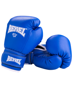 Перчатки боксерские RV-101, 8oz, к/з, синие - фото 45398