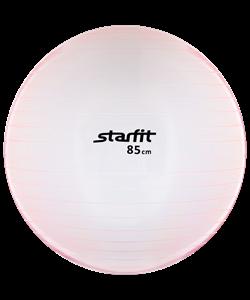 Мяч гимнастический GB-105 85 см, прозрачный, розовый - фото 45530