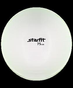 Мяч гимнастический GB-105 75 см, прозрачный, зеленый - фото 45532
