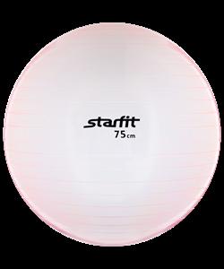 Мяч гимнастический GB-105 75 см, прозрачный, розовый - фото 45534