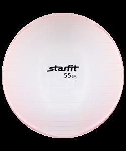 Мяч гимнастический GB-105 55 см, прозрачный, розовый - фото 45535