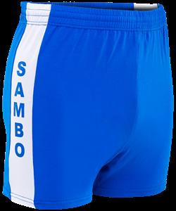 Шорты для самбо синие, р.34-42 - фото 45654