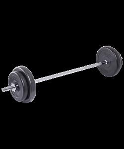 Штанга разборная BB-401, стальной гриф, пластиковые диски, 20 кг - фото 45859