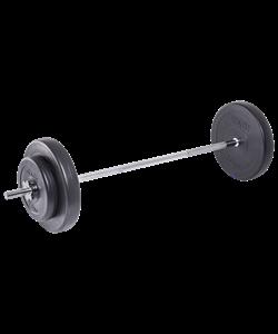 Штанга разборная BB-401, стальной гриф, пластиковые диски, 30 кг - фото 45863