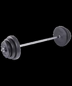Штанга разборная BB-401, стальной гриф, пластиковые диски, 40 кг - фото 45865