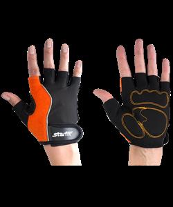 Перчатки для фитнеса SU-108, оранжевые/черные - фото 45963