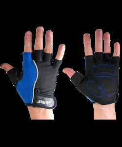 Перчатки для фитнеса SU-108, синие/черные - фото 45965