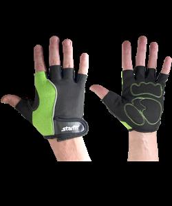 Перчатки для фитнеса SU-108, зеленые/черные - фото 45967