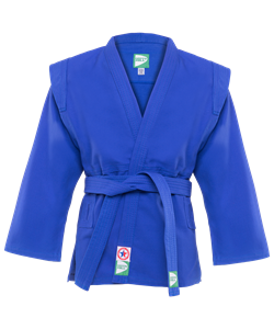 Куртка для самбо JS-302, синяя, р.1/140 - фото 46029