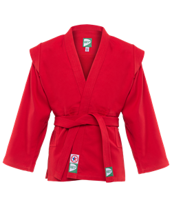 Куртка для самбо JS-302, красная, р.5/180 - фото 46050