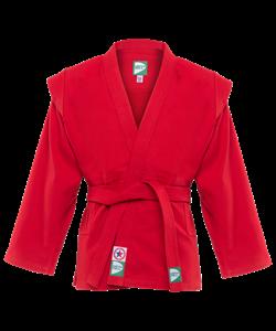 Куртка для самбо JS-302, красная, р.00/120 - фото 46053