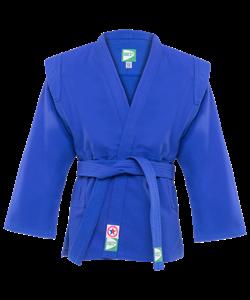 Куртка для самбо JS-302, синяя, р.00/120 - фото 46065
