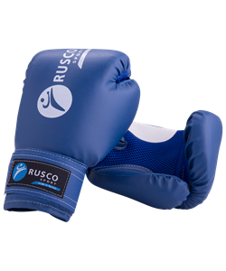 Перчатки боксерские детские, 4oz, к/з, синий - фото 46218