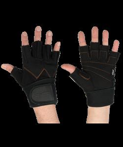 Перчатки атлетические SU-122, черные - фото 46251