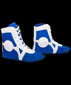 Обувь для самбо SM-0101, замша, синяя - фото 46521