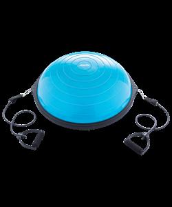 """Полусфера """"BOSU"""" GB-502 PRO с эспандерами, с насосом, синий - фото 46554"""