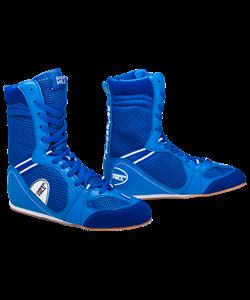 Обувь для бокса PS005 высокая, синяя - фото 46620