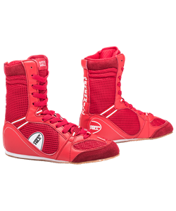 Обувь для бокса PS005 высокая, красная - фото 46675