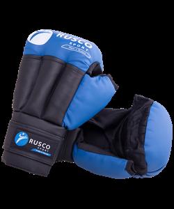 Перчатки для рукопашного боя, к/з, синие - фото 46699