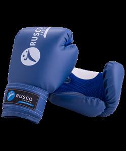 Перчатки боксерские, 8oz, к/з, синие - фото 46729
