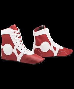 Обувь для самбо SM-0102, кожа, красный - фото 47014