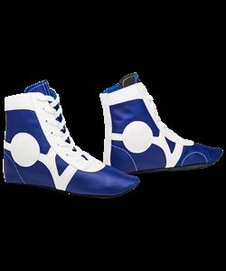 Обувь для самбо SM-0102, кожа, синий - фото 47099