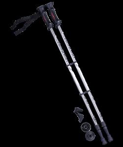 Палки для скандинавской ходьбы Longway, 77-135 см, 2-секционные, серый/чёрный - фото 48526