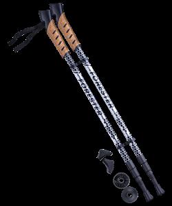 Палки для скандинавской ходьбы Forester, 67-135 см, 3-секционные, серый/чёрный - фото 48538