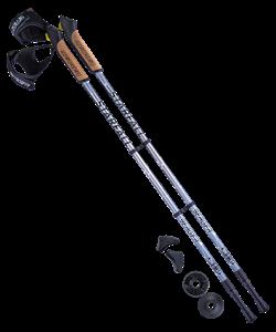 Палки для скандинавской ходьбы Starfall, 77-135 см, 2-секционные, серый/чёрный/белый - фото 48580