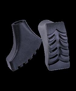 Комплект наконечников для скандинавских палок, 2 шт., чёрный - фото 48593