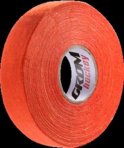 Лента хоккейная для крюка, 24мм х 25м, оранжевый - фото 48609
