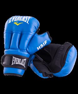 Перчатки для рукопашного боя HSIF RF3210, 10oz, к/з, синий - фото 48698