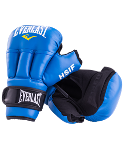 Перчатки для рукопашного боя HSIF RF3206, 6oz, к/з, синий - фото 48723
