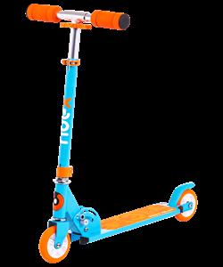 Самокат 2-колесный Sonic 100 мм, синий - фото 48947
