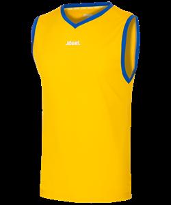 Майка баскетбольная JBT-1020-TEE-047, желтый/синий - фото 50689