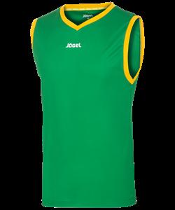 Майка баскетбольная JBT-1020-034, зеленый/желтый - фото 50850