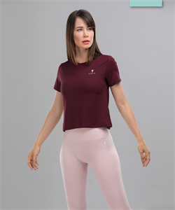 Женская спортивная футболка Balance FA-WT-0104, бордовый - фото 54201