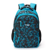 Рюкзак TORBER CLASS X, голубой с орнаментом, полиэстер, 45 x 30 x 18 см