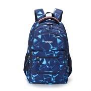 Рюкзак TORBER CLASS X, темно-синий с орнаментом, полиэстер, 45 x 30 x 18 см