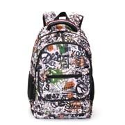 Рюкзак TORBER CLASS X, черно-белый с рисунком, полиэстер, 45 x 30 x 18 см
