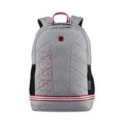 "Рюкзак WENGER Collegiate Quadma 16"", серый, 100% полиэстер, 33х17х43 см, 22 л"