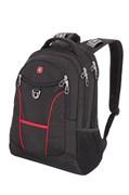 "Рюкзак WENGER, 15"", чёрный/красный, полиэстер, 35х20х47 см, 33 л"