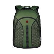 Рюкзак WENGER Sun 16'', зеленый со светоотражающим принтом, полиэстер, 35x27x47 см, 27 л