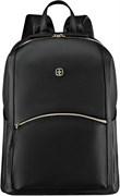 Рюкзак женский WENGER LeaMarie, черный, ПВХ/полиэстер, 31x16x41 см, 18 л