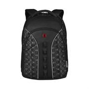 Рюкзак WENGER Sun 16'', черный со светоотражающим принтом, полиэстер, 35x27x47 см, 27 л