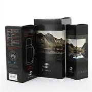 Термокружка Stinger, 0,45 л, сталь/пластик, черный глянцевый, 6,6х20 см